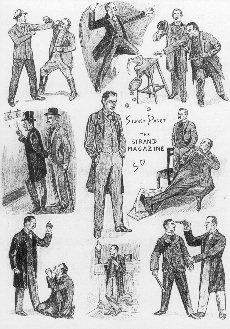 Sherlock Holmes Related Original Drawings